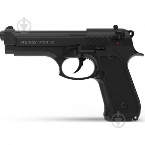 Оружие сигнально-шумовое Retay Mod.92, 9мм. к:black - фото 1