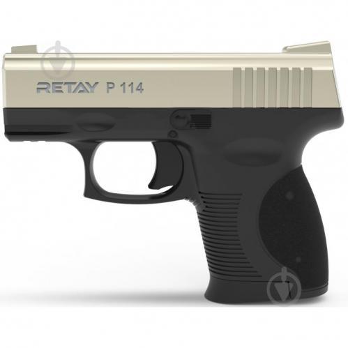 Оружие сигнально-шумовое Retay P114, 9мм. к:satin - фото 1