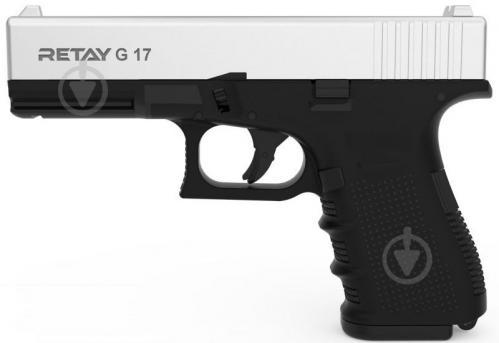 Оружие сигнально-шумовое Retay G 17, 9мм. к:chrome - фото 1