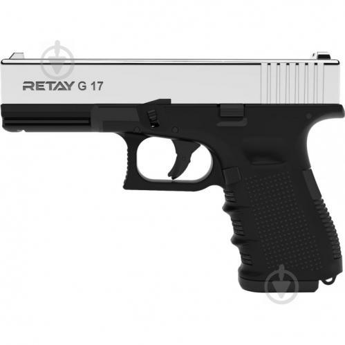 Оружие сигнально-шумовое Retay G 17, 9ММ. К:NICKEL - фото 1