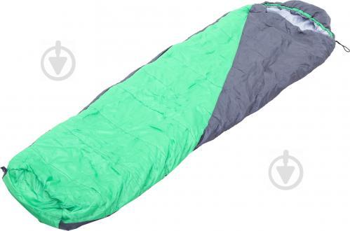 Спальний мішок з капюшоном сіро-зелений - фото 1