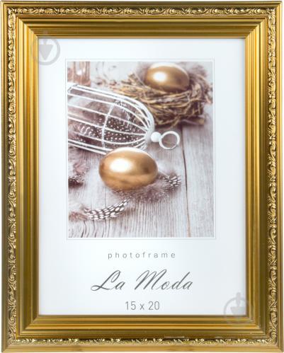 f7a81a72db7ca7 ᐉ Рамка для фото La Moda P1602 gold 15х20 см • Краща ціна в Києві ...