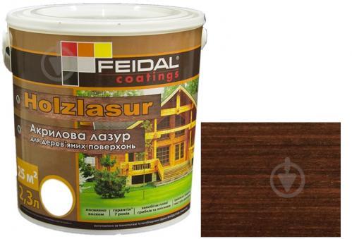 Лазурь Feidal Holzlasur палисандр шелковистый глянец 2,3 л - фото 1