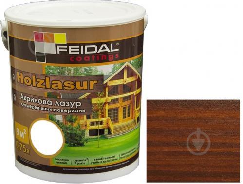 Лазурь Feidal Holzlasur орех шелковистый глянец 0,75 л - фото 1