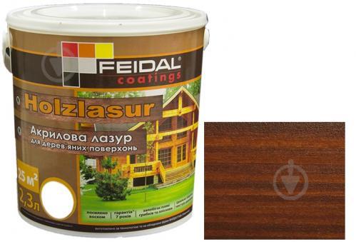 Лазурь Feidal Holzlasur орех шелковистый глянец 2,3 л - фото 1
