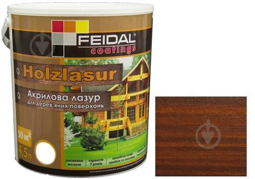 Лазурь Feidal Holzlasur орех шелковистый глянец 4,5 л - фото 1