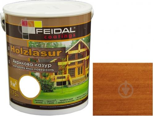 Лазурь Feidal Holzlasur тик шелковистый глянец 0,75 л - фото 1