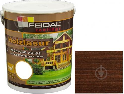 Лазурь Feidal Holzlasur палисандр шелковистый глянец 0,75 л - фото 1