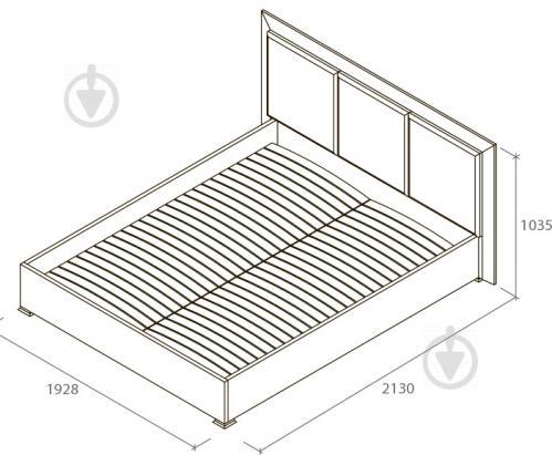 Ліжко Aqua Rodos Karat KRWhBed-Lift-1600 160x200 см білий глянець - фото 2