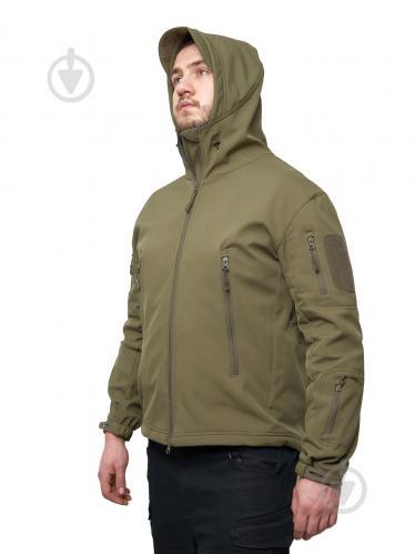 Куртка ESDY Softshell Shark Skin JA-01 L оливковый - фото 1