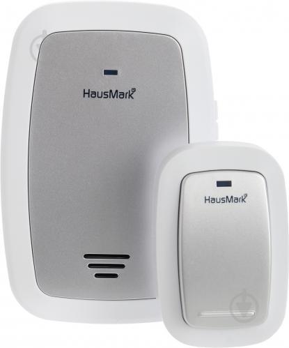 Звонок беспроводной HausMark белый с серебристым WSD-915-GY13