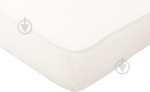 Простынь на резинке трикотажная 160x200 см кремовый Songer und Sohne - фото 1