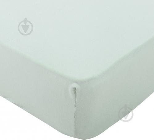 Простынь на резинке трикотажная 160x200 см светло-зеленый Songer und Sohne - фото 1