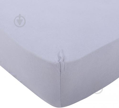 Простынь на резинке трикотажная 180x200 см серый Songer und Sohne - фото 1