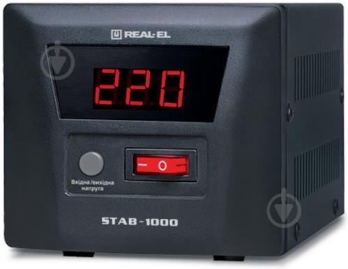 Стабілізатор напруги  REAL-EL STAB-1000 EL122400003 - фото 1