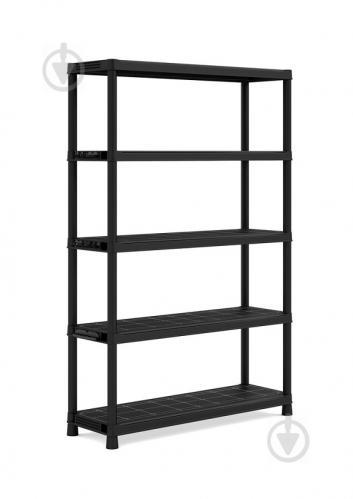 Стеллаж пластиковый универсальный KIS Plus-Shelf 75/5 1760x750x320 мм черный - фото 1