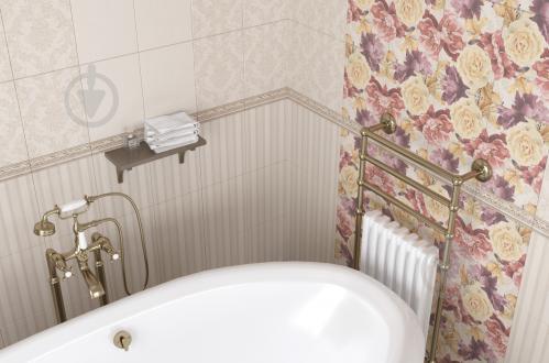 Плитка Golden Tile Gobelen Flower бежевый 701151 25x33 - фото 4