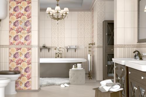 Плитка Golden Tile Gobelen Flower бежевый 701151 25x33 - фото 6