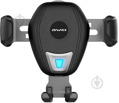 Автодержатель AWEI CW2 Wireless Car Holder Black (86276) - фото 1