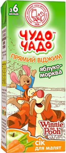 Сік Чудо-Чадо Яблуко-морква 200 мл - фото 1