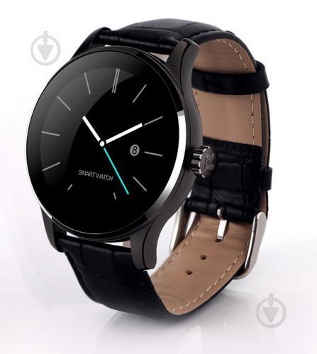 Умные часы Lemfo K88H leather с кожаным ремешком Черный - фото 1