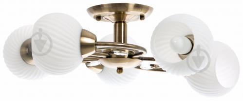 Люстра стельова Accento lighting VALENCIA 5x60 Вт E27 антична латунь ALDW-MX12846-5 - фото 2