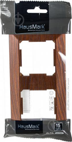 Рамка двухместная HausMark Alta горизонтальная дуб бронзовый SNG-FRP.SQ20G2-8/Oak-bronze - фото 3
