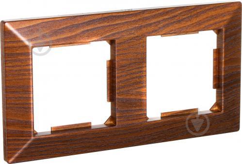 Рамка двухместная HausMark Alta горизонтальная дуб бронзовый SNG-FRP.SQ20G2-8/Oak-bronze - фото 2
