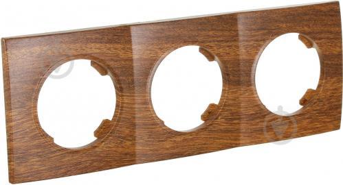 Рамка трехместная HausMark Bela горизонтальная орех SNG-FRP.RD20G3-9/Walnut - фото 2