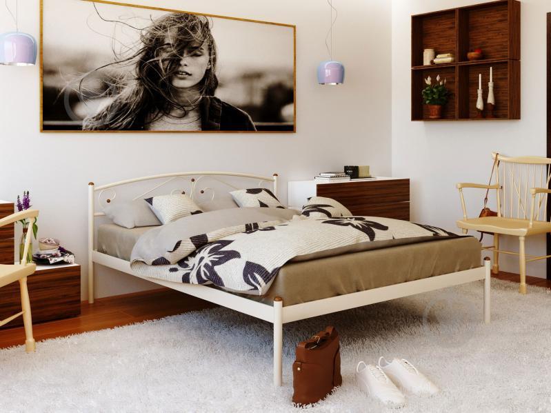 Кровать Сениро 160x200 см бежевый - фото 2
