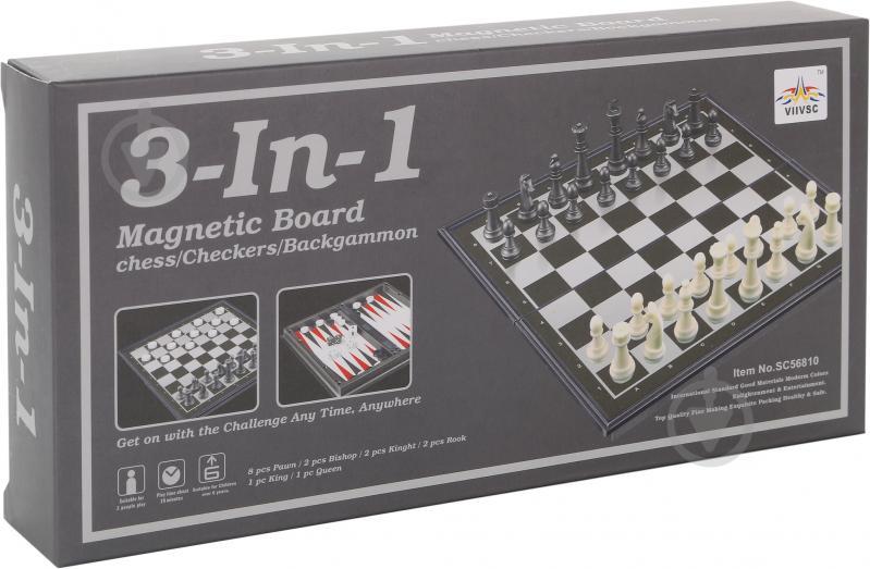 Игровой набор Shantou Шахматы, шашки, нарды 3 в 1 I307289 - фото 6
