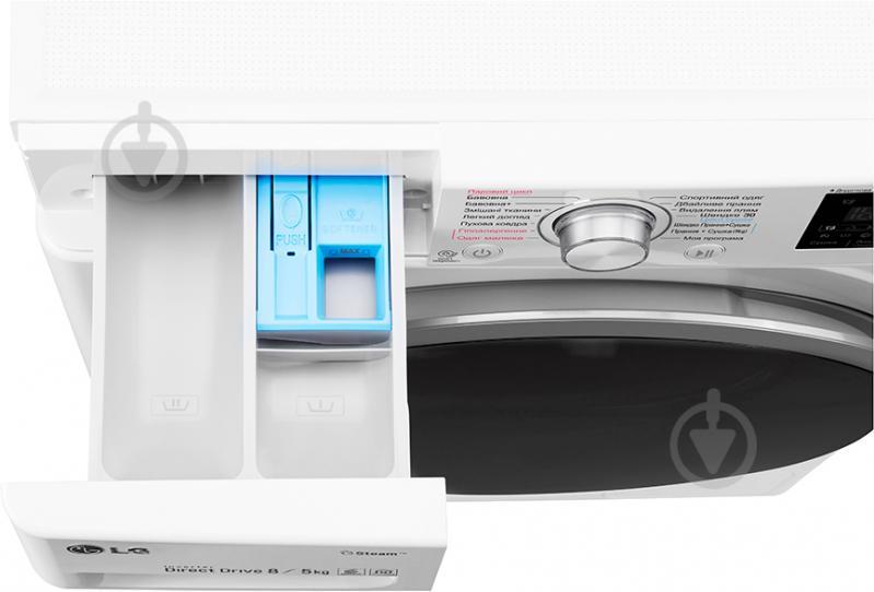 Пральна машина із сушкою LG F4J6TG1W - фото 14