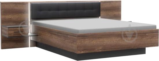 Комплект для спальні Forte Meble Bellevue BLQL161 N09 160x200 см дуб болотний/дуб чорний - фото 1