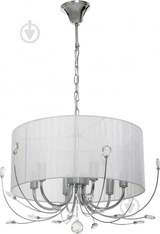 Люстра підвісна Accento lighting Afrodita 6x40 Вт E14 хром ALSQ-MD37575/6 - фото 1