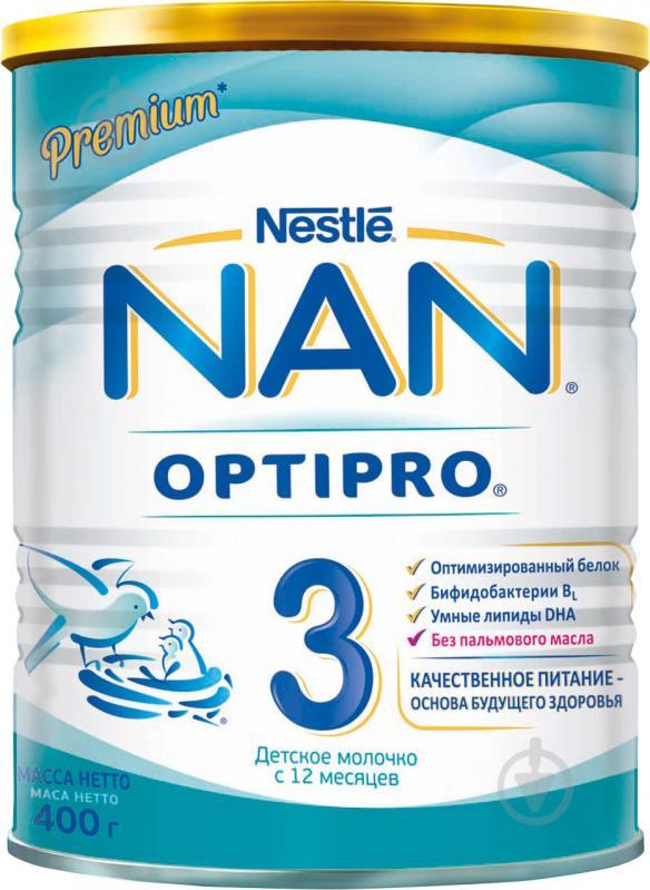 Суха молочна суміш Nestle NAN 3 400 г 7613032476175 - фото 1