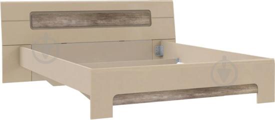 Ліжко Forte Meble Tiziano TZML160 T17 160x200 см дуб античний/бежевий глянець - фото 1