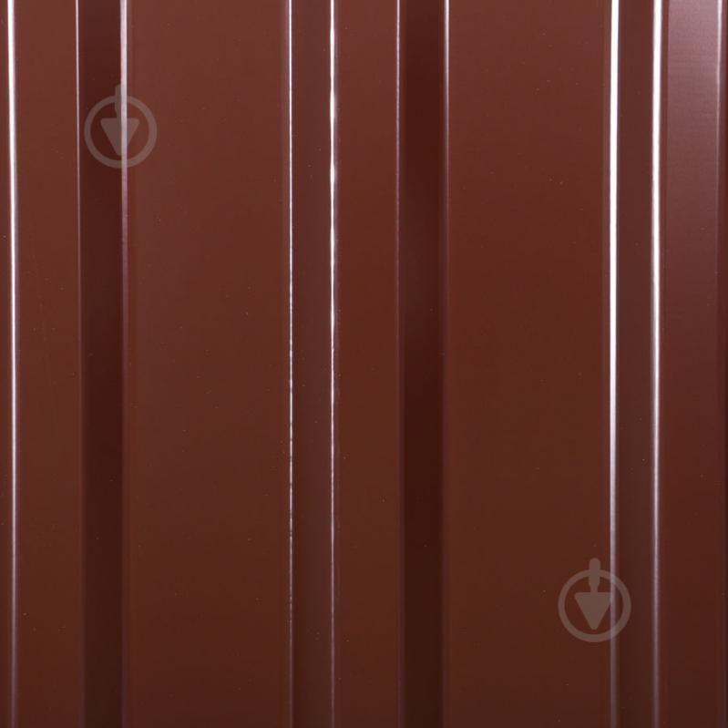 Профнастил глянцевий СТАЛЕКС ПС-18 Б 0,3х1150x2000 мм RAL 8017 коричневий - фото 4
