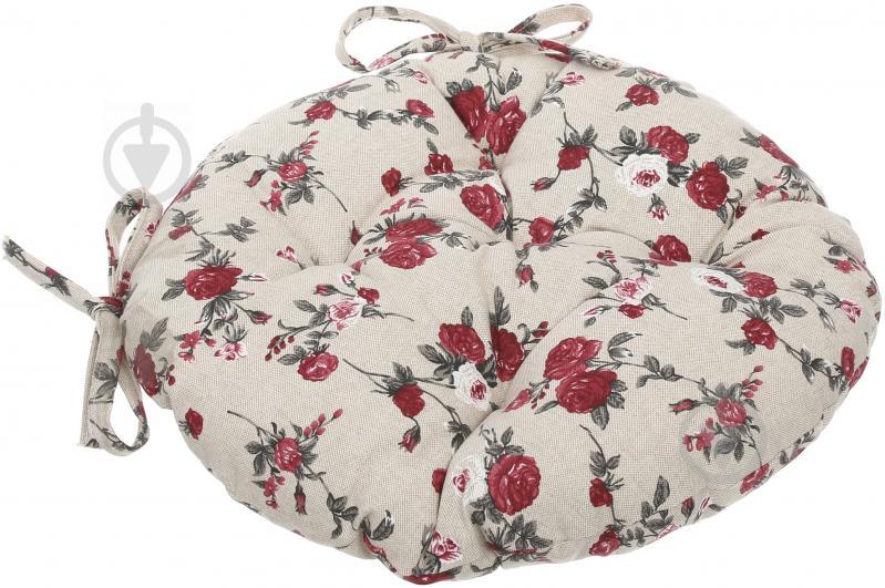 Подушка на стілець Вінтаж Троянди кругла d 40 см La Nuit - фото 2