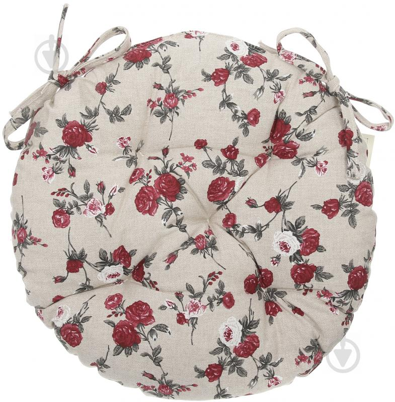 Подушка на стілець Вінтаж Троянди кругла d 40 см La Nuit - фото 1
