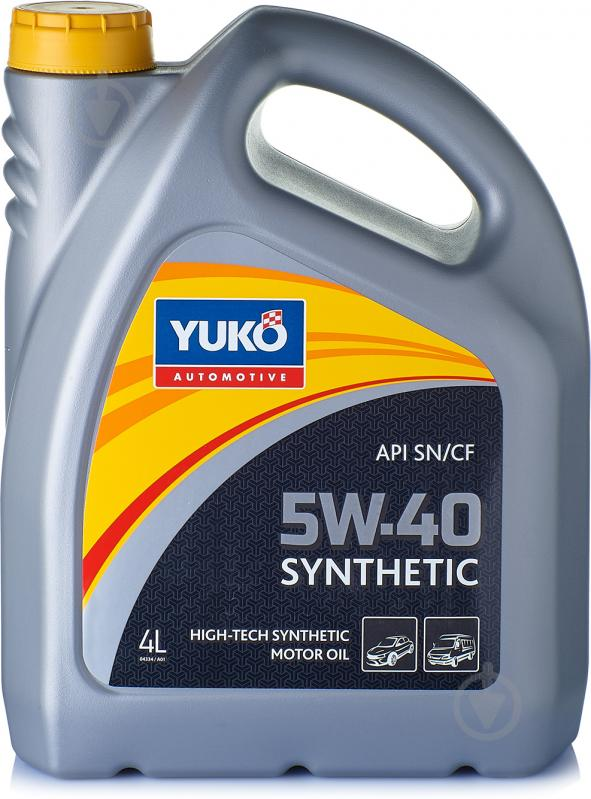 Моторное масло YUKO SYNTHETIC 5W-40 4л - фото 1