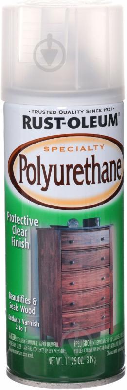 Лак аэрозольный Specialty polyurethane Rust Oleum 319 г - фото 1