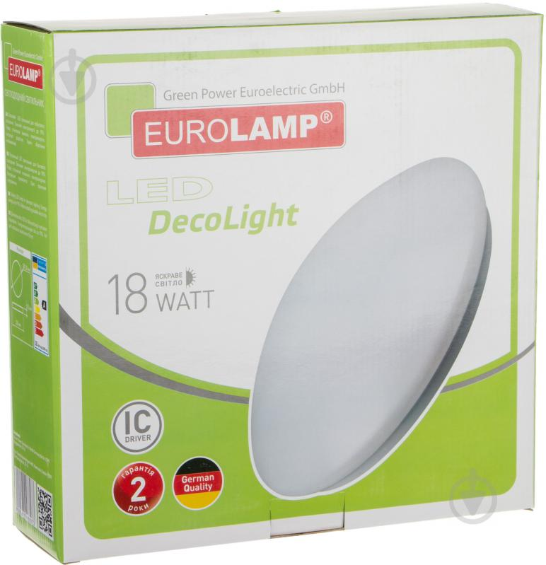 Світильник світлодіодний Eurolamp 18 Вт білий 4000 К LED-NLR-18/4(F)new - фото 4