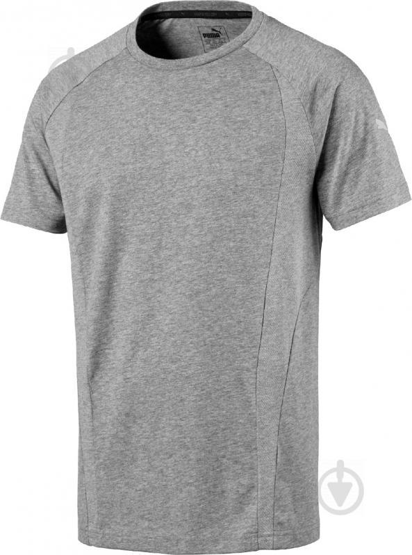 Футболка Puma Evostripe Basic Tee р. S серый 59261303 - фото 1