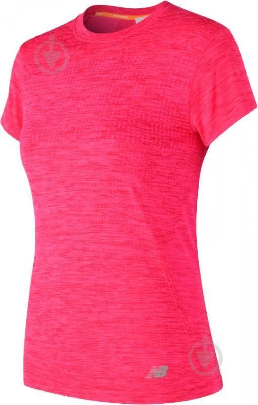 Футболка женская New Balance M4M Seamless Short Sleeve р. L розовый WT71156AKH - фото 1