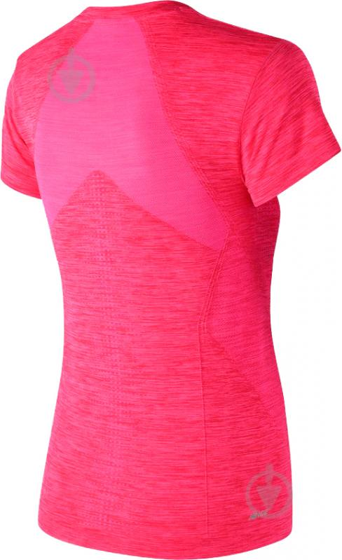 Футболка женская New Balance M4M Seamless Short Sleeve р. L розовый WT71156AKH - фото 2