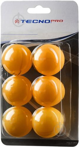 Мячи для настольного тенниса TECNOPRO 3 Star TT-Ball-6 - фото 1