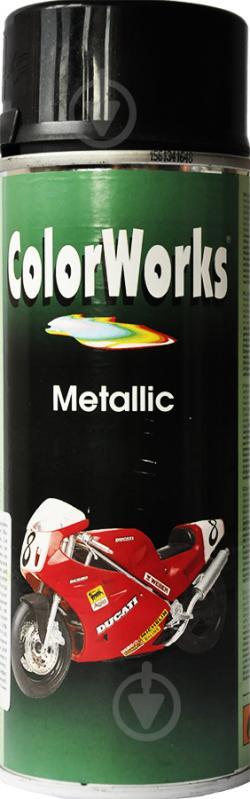 Емаль аерозольна Metallic ColorWorks чорний 400 мл - фото 1