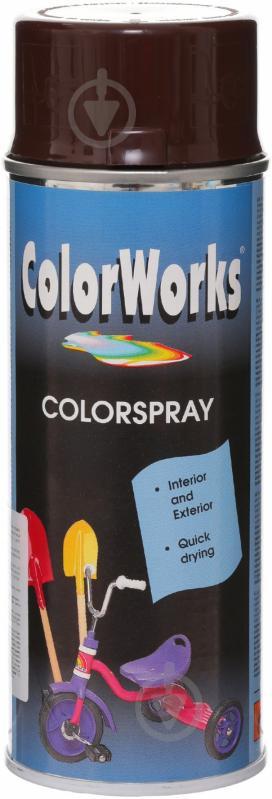 Эмаль аэрозольная RAL 8017 ColorWorks шоколадно-коричневый 400 мл - фото 1