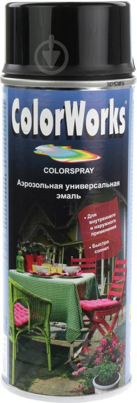 Эмаль аэрозольная RAL 9005 ColorWorks черный 400 мл - фото 1