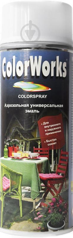Эмаль аэрозольная RAL 9010 ColorWorks белый 400 мл - фото 1
